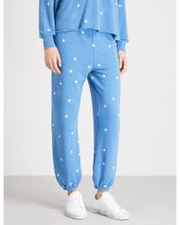 Wildfox - Star-print Stretch-cotton Jogging Bottoms - Lyst