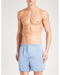 Zimmerli - Patterned Relaxed-fit Silk Boxer Shorts - Lyst