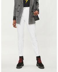 The Kooples - Rhinestone-trim Skinny High-rise Jeans - Lyst