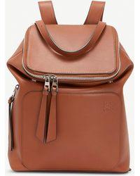 Loewe Goya Small Leather Backpack - Brown