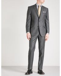 Richard James - Sharkskin-weave Slim-fit Wool Blazer - Lyst