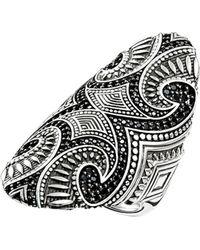 Thomas Sabo - Rebel At Heart Maori Sterling Silver Ring - Lyst