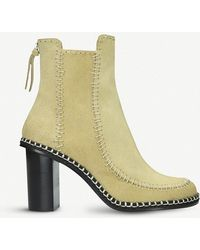 JW Anderson - Scarecrow Stitched Leather Ankle Boots - Lyst