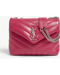 e25946c817 Saint Laurent - Monogram Loulou Quilted Leather Cross-body Bag - Lyst