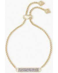 Kendra Scott - Stan 14ct Yellow Gold-plated And Platinum Drusy Bracelet - Lyst