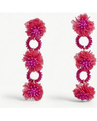 BaubleBar - Vernita Brass And Cotton Drop Earrings - Lyst