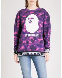 A Bathing Ape - Camouflage-print Cotton-jersey Sweatshirt - Lyst