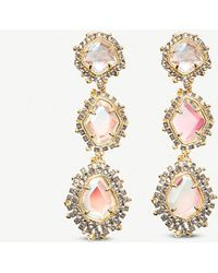 Kendra Scott - Aria 14ct Gold Clip-on Earrings - Lyst