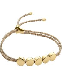 Monica Vinader - Linear Bead 18ct Gold-plated Friendship Bracelet - Lyst