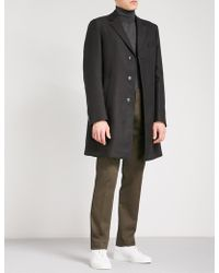 BOSS - Single-breasted Woven Coat - Lyst