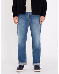 Nudie Jeans - Sleepy Sixten Regular-fit Straight Jeans - Lyst