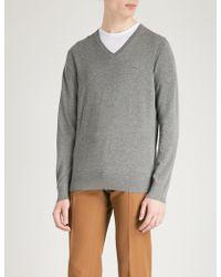 Michael Kors - V-neck Cotton-knitted Jumper - Lyst