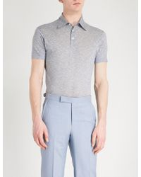 Richard James - Short-sleeved Cotton Polo Shirt - Lyst