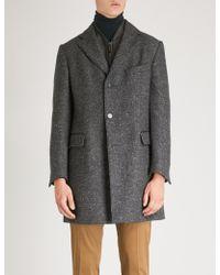 Corneliani - Longline Cashmere And Silk-blend Coat - Lyst
