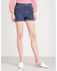 Claudie Pierlot | Studded-detail Stretch-denim Shorts | Lyst
