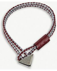 Prada - Braided Leather Bracelet - Lyst