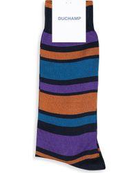 Duchamp - Striped Cotton-blend Socks - Lyst