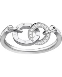 Thomas Sabo - Together Forever Sterling Silver And Zirconia Ring - Lyst
