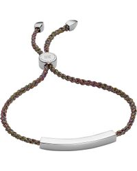 Monica Vinader - Linear Sterling Silver Friendship Bracelet - Lyst