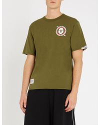 Aape - Reversible Camouflage And Logo-print Cotton-jersey T-shirt - Lyst