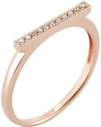 The Alkemistry - Diamond Bar 14ct Rose-gold Ring - Lyst