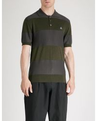 Vivienne Westwood - Striped Wool Polo Shirt - Lyst