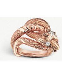 Gucci - Le Marché Des Merveilles 18ct Rose-gold And Diamond Ring - Lyst