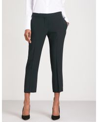 Alexander McQueen | Tapered Cropped Mid-rise Crepe Trousers | Lyst