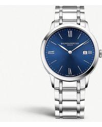 Baume & Mercier - Stainless Steel Watch - Lyst