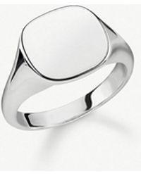 Thomas Sabo - Rebel At Heart Sterling Silver Signet Ring - Lyst
