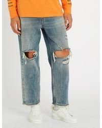 DIESEL - Dagh-xp Regular-fit Straight Denim Jeans - Lyst