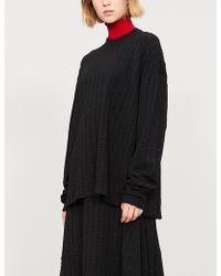 Jil Sander - Textured-stripe Wool-blend Top - Lyst