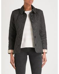 14696daa33cca Burberry - Frankby Checked-detail Quilted Shell Jacket - Lyst