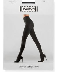 Wolford - Velvet Sensation Tights - Lyst