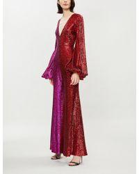 Halpern - Two-tone Sequinned Jumpsuit - Lyst