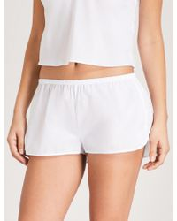Les Girls, Les Boys - Logo-embroidered Cotton Pyjama Shorts - Lyst