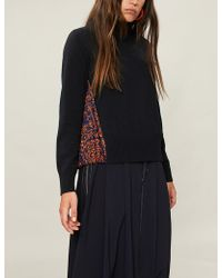 Sacai - Reyn Spooner Floral-print Wool And Crepe Jumper - Lyst