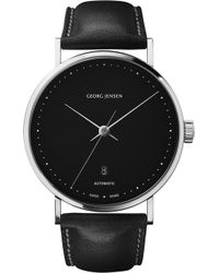 Georg Jensen - Koppel Stainless Steel And Leather Watch 41Mm - For Women - Lyst