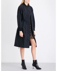Mo&co. - Text-print Shell Trench Coat - Lyst
