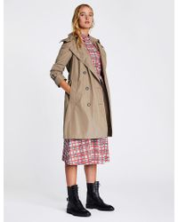 Burberry - Women's Beige Amberford Cotton Trench Coat - Lyst