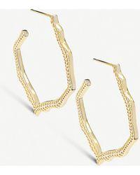Kendra Scott - Miku Gold-plated Hoop Earrings - Lyst