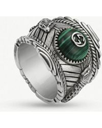 Gucci - Garden Sterling Silver And Resin Ring - Lyst