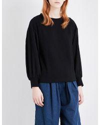 Miharayasuhiro - Pleated-panel Jersey Sweatshirt - Lyst