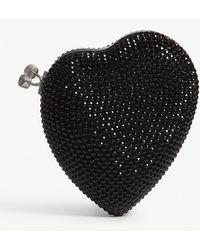 Saint Laurent - Love Heart Swarovski Small Box Clutch - Lyst