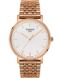 Tissot - T109.410.33.031.00 Rose Gold-plated Stainless Steel Watch - Lyst