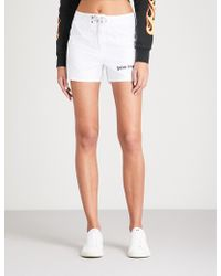 Palm Angels - Sundek Iconic High-rise Shell Shorts - Lyst