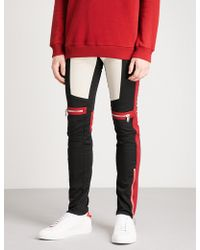 Givenchy - Motorcross-detail Slim-fit Skinny Stretch-cotton Trousers - Lyst