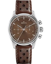 Zenith - 03.2150.4069/75.c806 Heritage 146 Stainless Steel And Leather Watch - Lyst