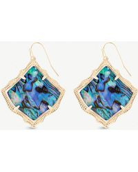 Kendra Scott - Kirsten 14ct Gold-plated And Abalone Shell Drop Earrings - Lyst
