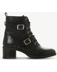 Dune - Paxtone Buckled Leather Boots - Lyst